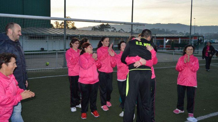 Las usuarias de EVD Galicia comienzan sus entranamientos de futbol en Mos