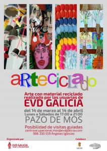 Cartel de la exposición ARTECICLADO, organizada por EVD GALICIA