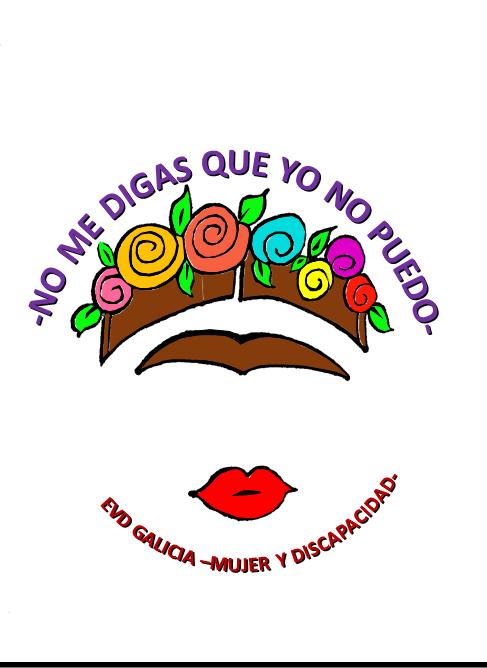 Logotipo no me digas que yo no puedo. Mesa redonda de EVD Galicia por el Día de la Mujer