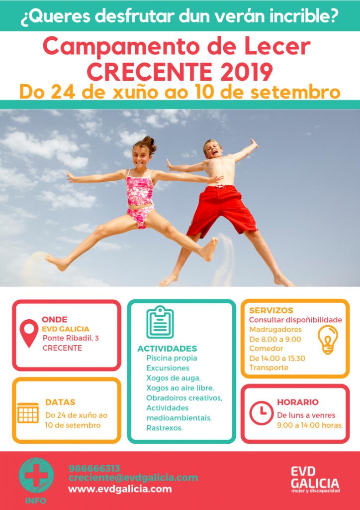 Cartel Campamento Verano 2019 EVD Galicia Crecente