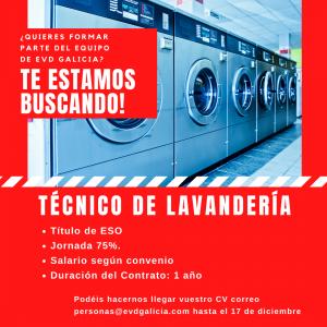 Oferta de empleo Técnico de Lavandería EVD GALICIA