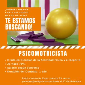 Oferta de empleo EVD Galicia. Psicomotricista
