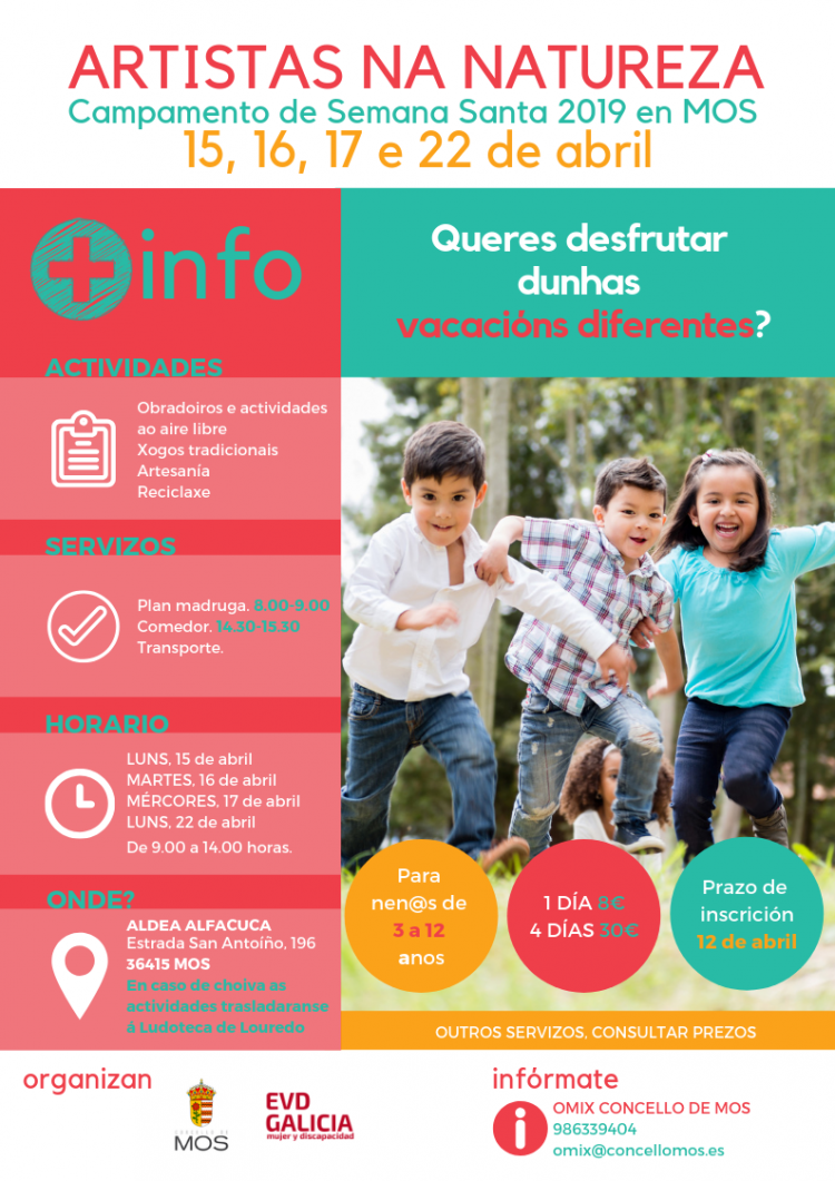 Campamento semana santa 2019 MOS EVD Galicia y Concello de Mos