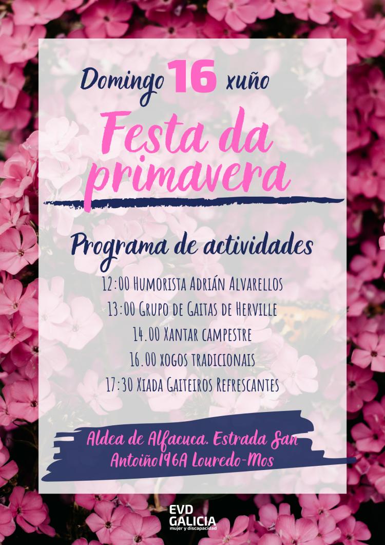 Cartel Fiesta de la primavera 2019 en la Aldea Alfacuca
