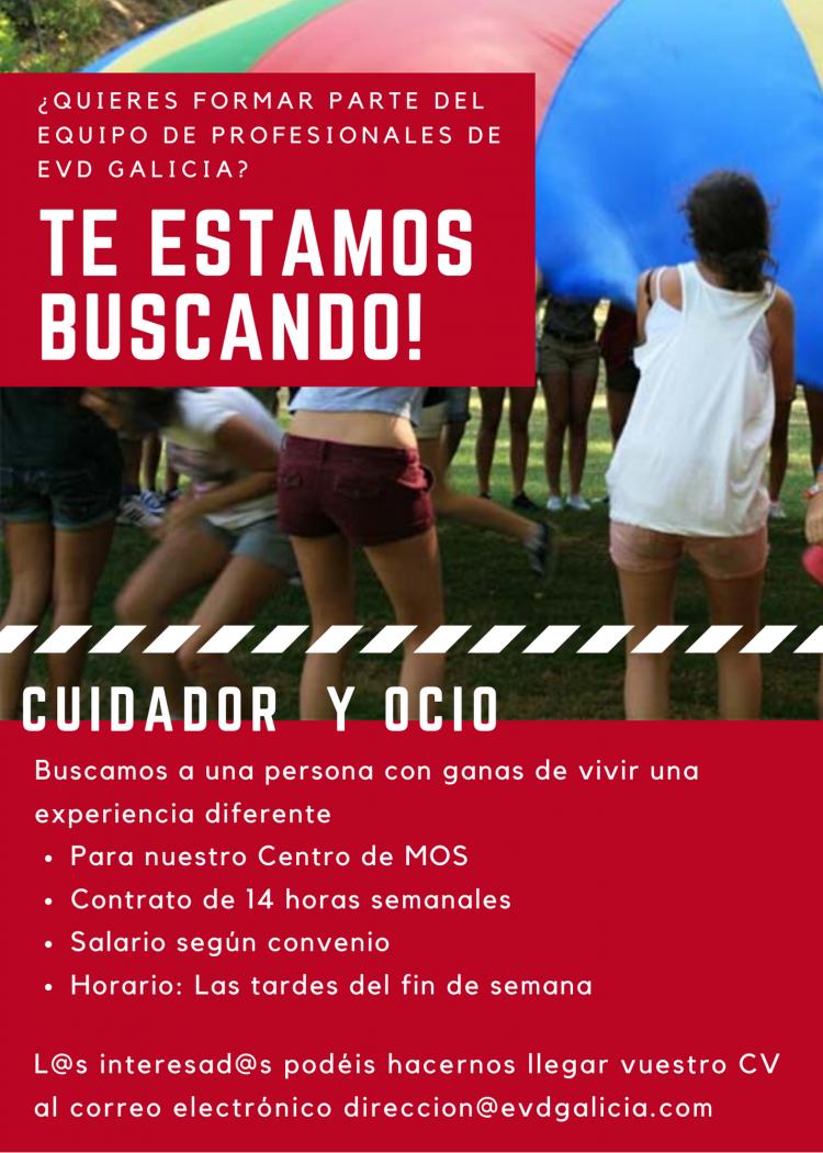 Oferta de trabajo para cuidadora en EVD Galicia